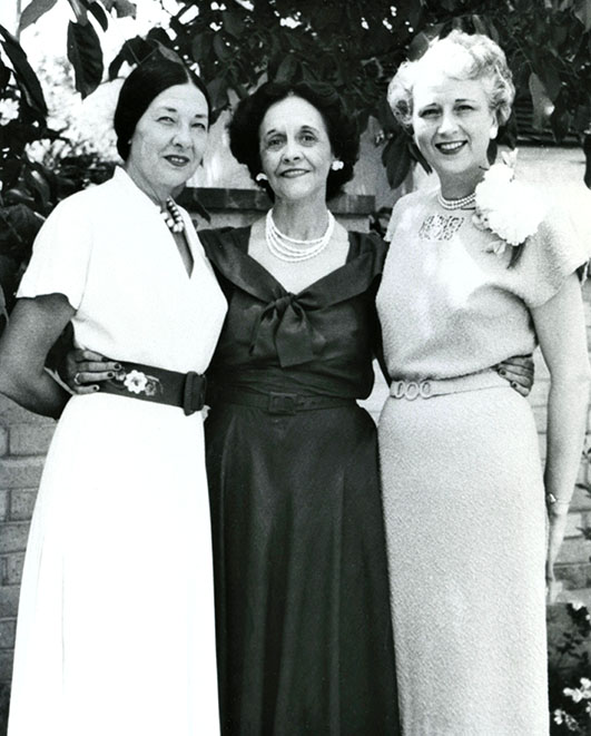 Te Ata, Frances Davis, and Louise Waldorf