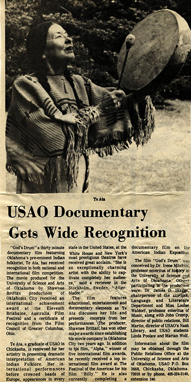 USAO Documentary Gets Wide Recognition